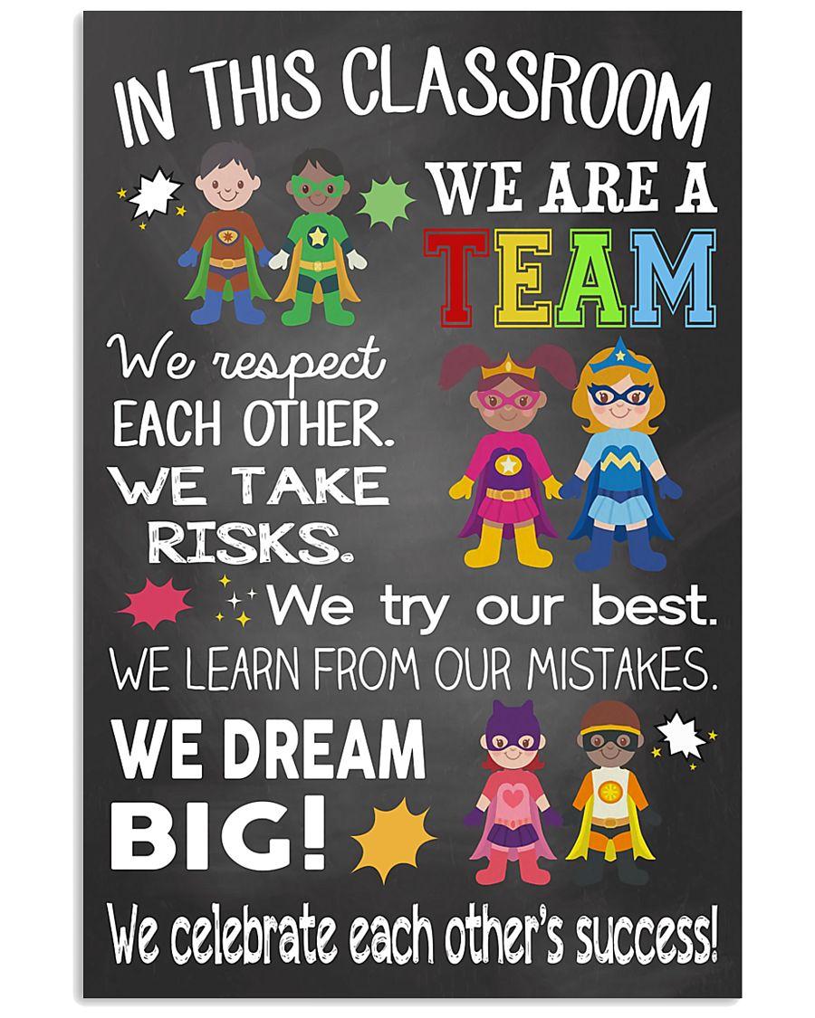 Teacher We Are A Team 11x17 Poster