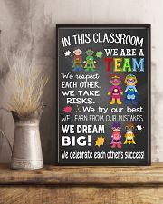 Teacher We Are A Team 11x17 Poster lifestyle-poster-3