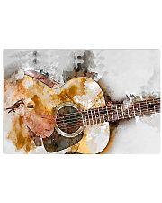 Watercolor Guitar Art 17x11 Poster front