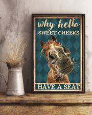 Horse Girl Why Hello Sweet Cheeks Have A Seat 11x17 Poster lifestyle-poster-3
