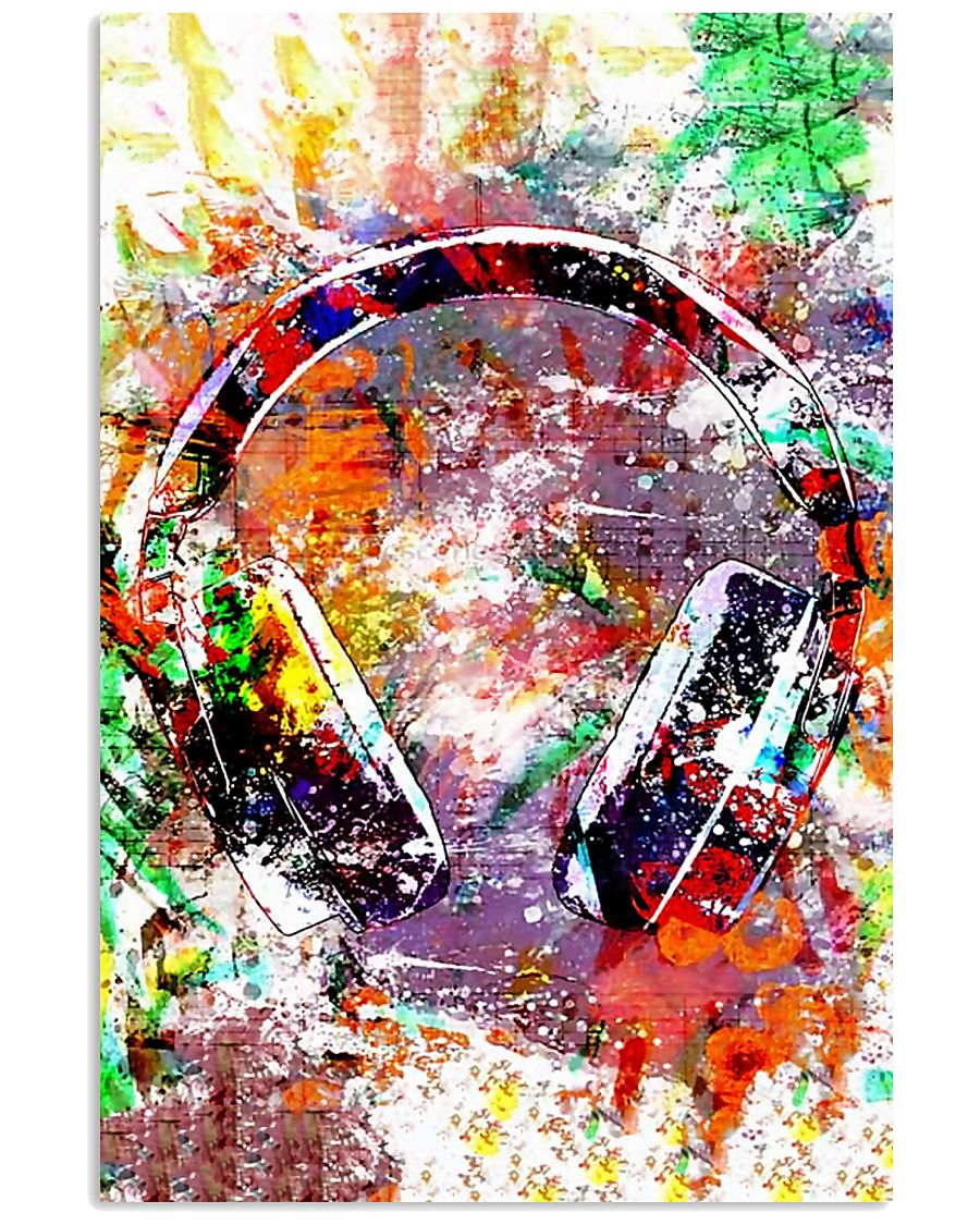 DJ Colorful Headphone 11x17 Poster