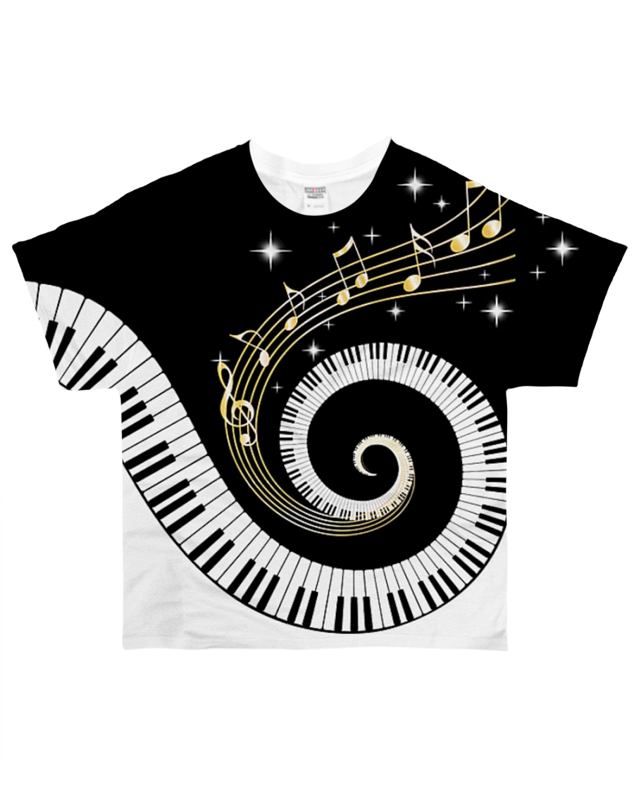Pianist Twinkle Music Notes All-over T-Shirt