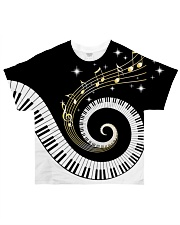 Pianist Twinkle Music Notes All-over T-Shirt front