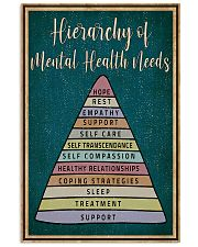 Social Worker Hierarchy Of Mental Health Needs 11x17 Poster front