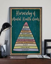 Social Worker Hierarchy Of Mental Health Needs 11x17 Poster lifestyle-poster-2