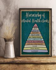 Social Worker Hierarchy Of Mental Health Needs 11x17 Poster lifestyle-poster-3