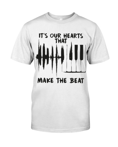 Pianist Our hearts that make the beat