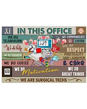 Surgical Technologist In This Office 17x11 Poster front