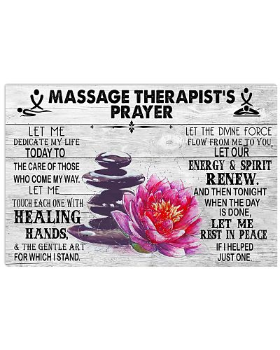 Massage Therapist's Prayer Lotus