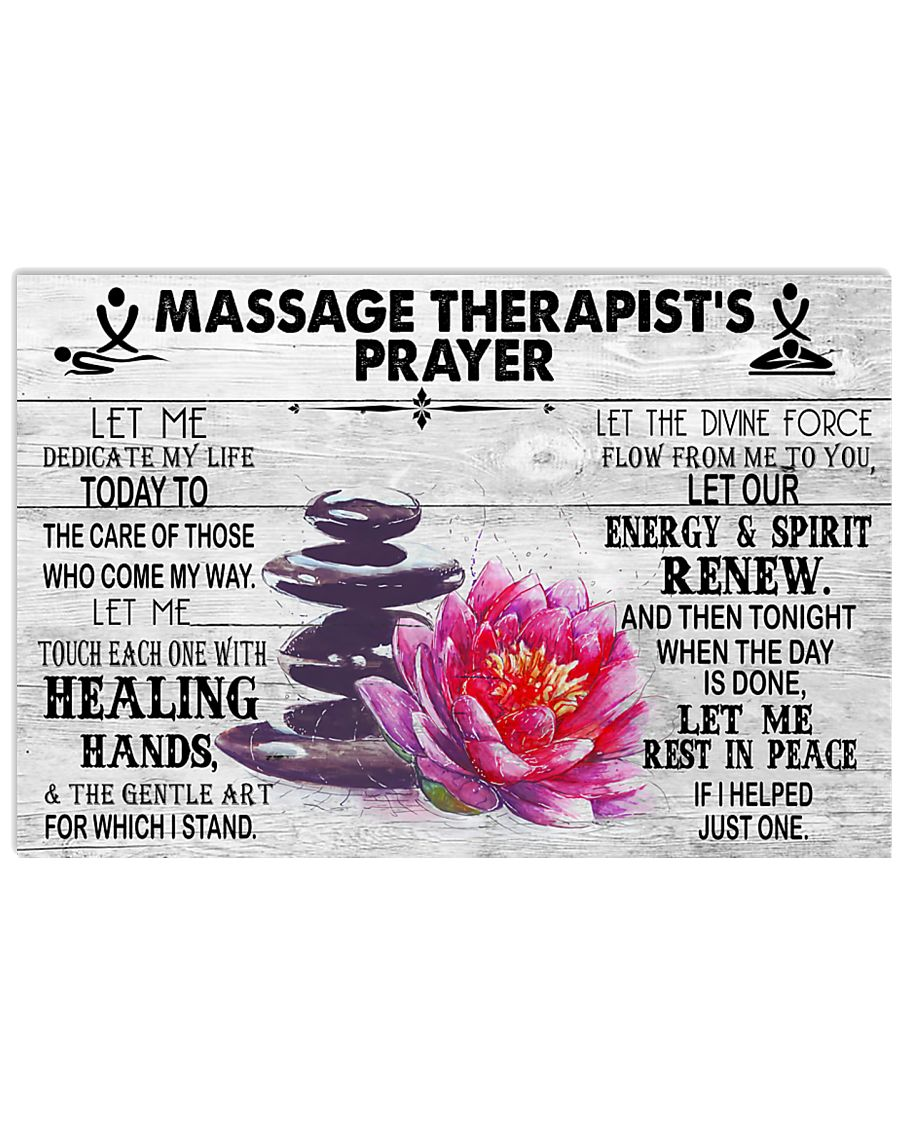 Massage Therapist's Prayer Lotus 17x11 Poster