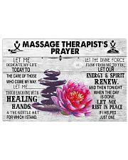 Massage Therapist's Prayer Lotus 17x11 Poster front