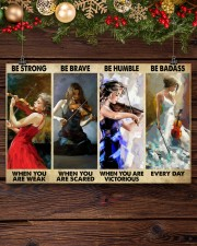 Violinist Be Strong When You Are Weak  17x11 Poster aos-poster-landscape-17x11-lifestyle-27