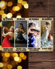 Violinist Be Strong When You Are Weak  17x11 Poster aos-poster-landscape-17x11-lifestyle-29