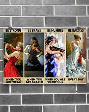Violinist Be Strong When You Are Weak  17x11 Poster poster-landscape-17x11-lifestyle-18