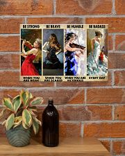 Violinist Be Strong When You Are Weak  17x11 Poster poster-landscape-17x11-lifestyle-23