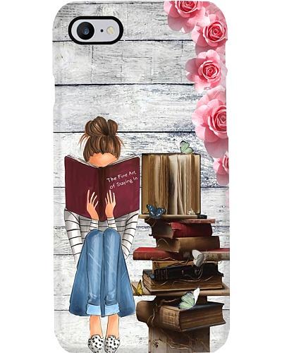 Librarian Girl Reads Book