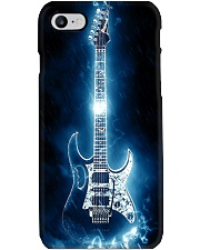 Art Light Blue Guitar  Phone Case thumbnail
