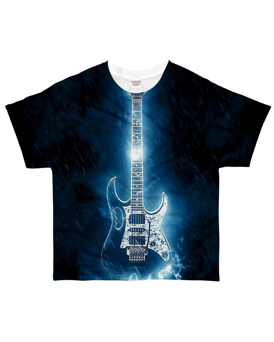 Art Light Blue Guitar  All-over T-Shirt