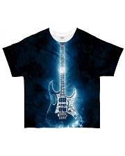 Art Light Blue Guitar  All-over T-Shirt front