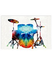 Drummer Gift Colorful Drums 17x11 Poster front