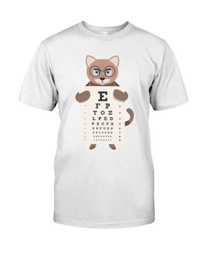 Cute Animal With Eyechart Optometrist