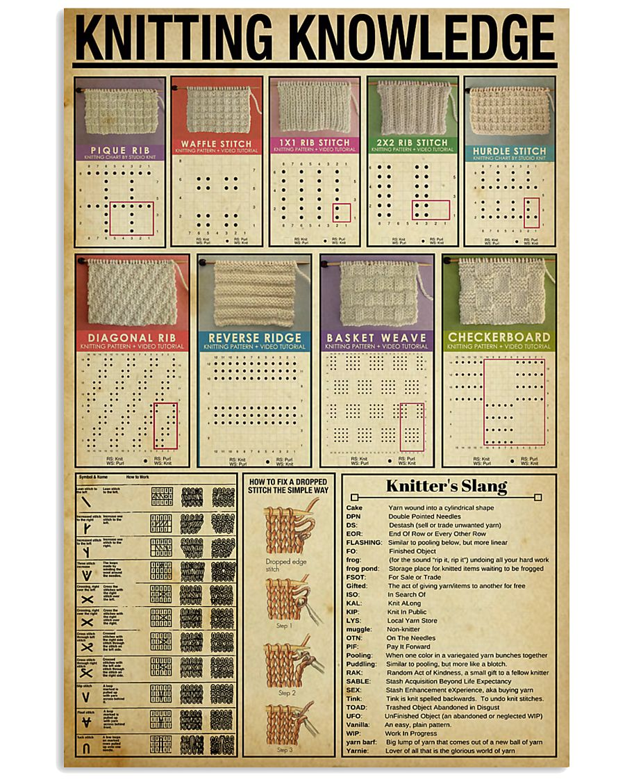 Knitting Knowledge 11x17 Poster