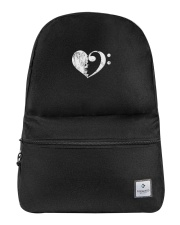 Bass Guitar Heart Clef Backpack thumbnail