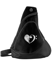 Bass Guitar Heart Clef Sling Pack thumbnail