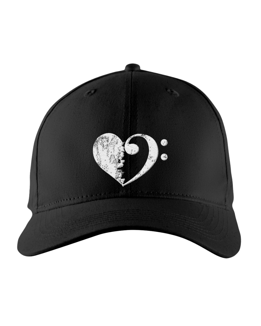 Bass Guitar Heart Clef Embroidered Hat