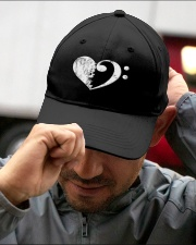 Bass Guitar Heart Clef Embroidered Hat garment-embroidery-hat-lifestyle-01
