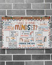 Teacher What Is Your Mindset 17x11 Poster poster-landscape-17x11-lifestyle-18