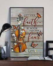 Violin Let your faith be bigger than your fear 11x17 Poster lifestyle-poster-2