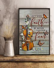Violin Let your faith be bigger than your fear 11x17 Poster lifestyle-poster-3