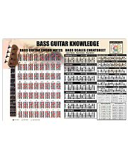 Bass Guitar Knowledge Chords Notes 17x11 Poster front