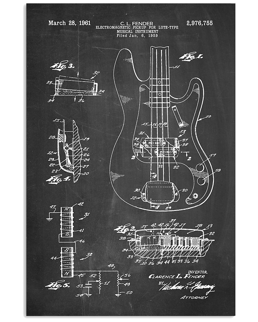Bass Guitar Detail  16x24 Poster