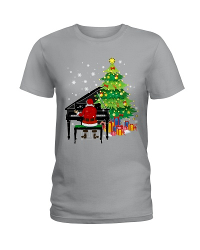 Pianist Santa Playing Piano Christmas