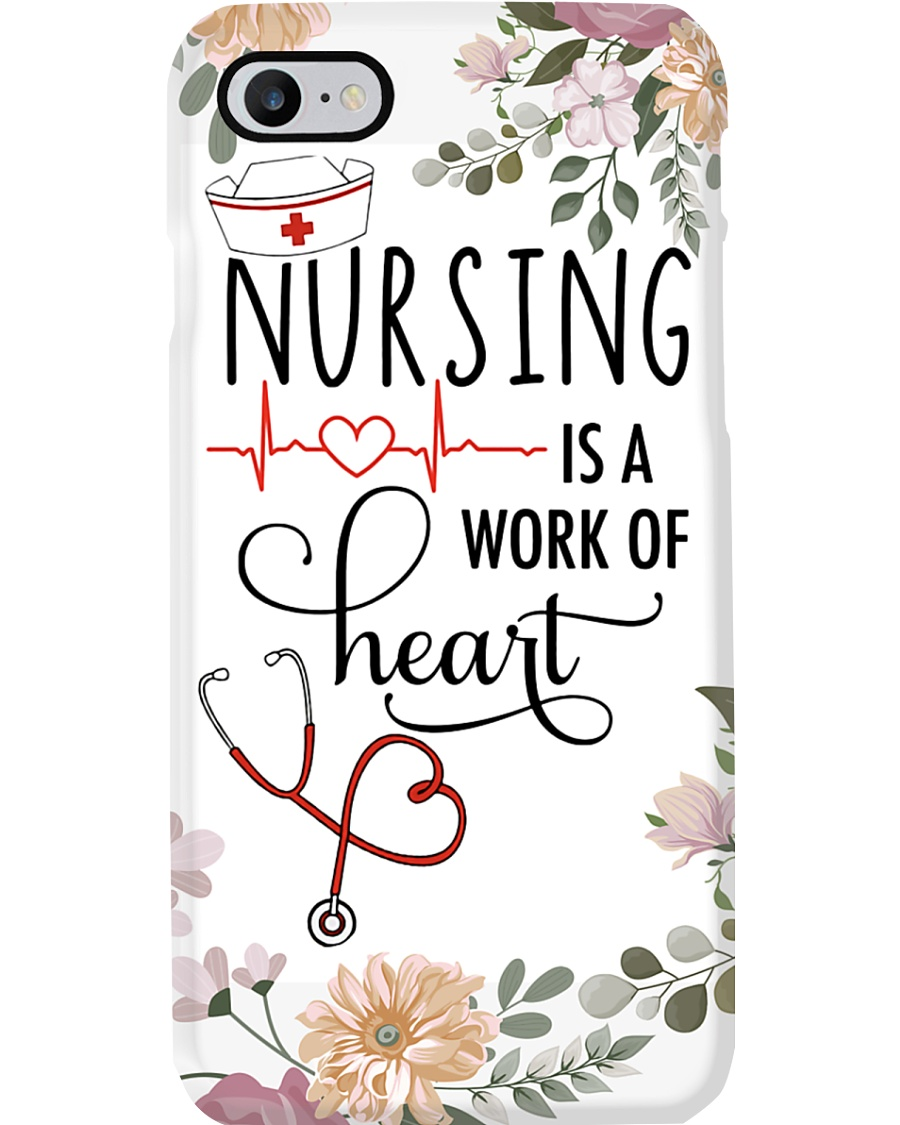 Nurse Nursing Is A Work Of Heart Phone Case