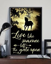Horse Girl - Live like someone left the gate open 11x17 Poster lifestyle-poster-2