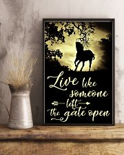 Horse Girl - Live like someone left the gate open 11x17 Poster lifestyle-poster-3