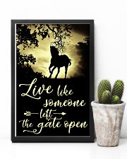 Horse Girl - Live like someone left the gate open 11x17 Poster lifestyle-poster-8