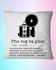 Definition Photographer  Square Pillowcase aos-pillow-square-front-lifestyle-11
