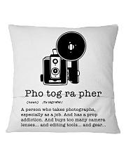Definition Photographer  Square Pillowcase back