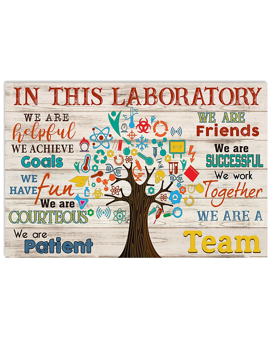 Scientist We are a Team  17x11 Poster