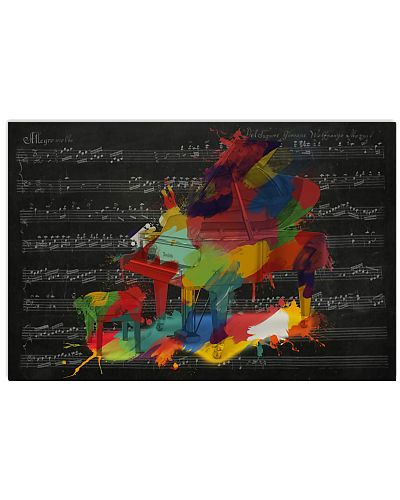Pianist Piano Colors Art Music Sheet