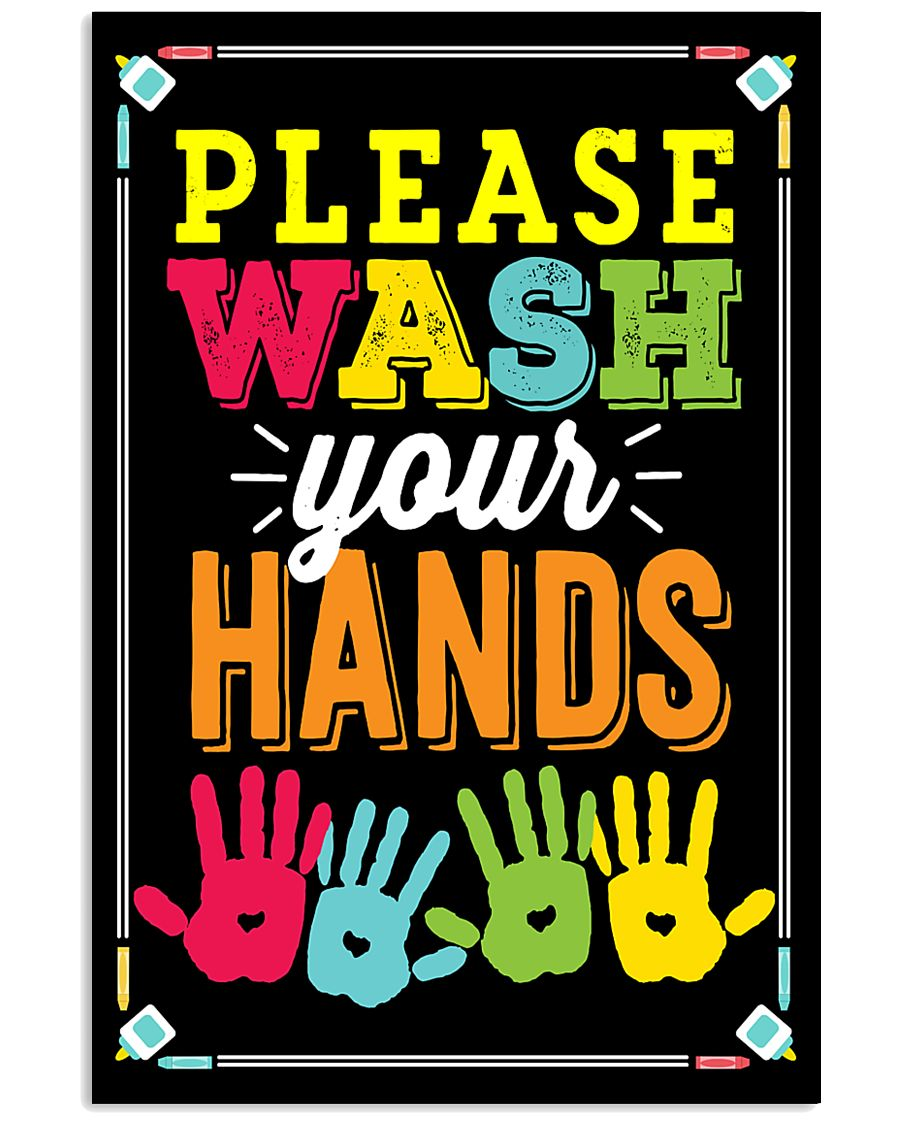 Wash Your Hands Teacher  11x17 Poster
