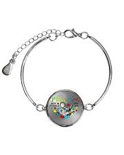 Autism Awareness Mother son Best friends for life Metallic Circle Bracelet thumbnail