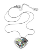 Autism Awareness Mother son Best friends for life Metallic Heart Necklace aos-necklace-heart-metallic-lifestyle-03