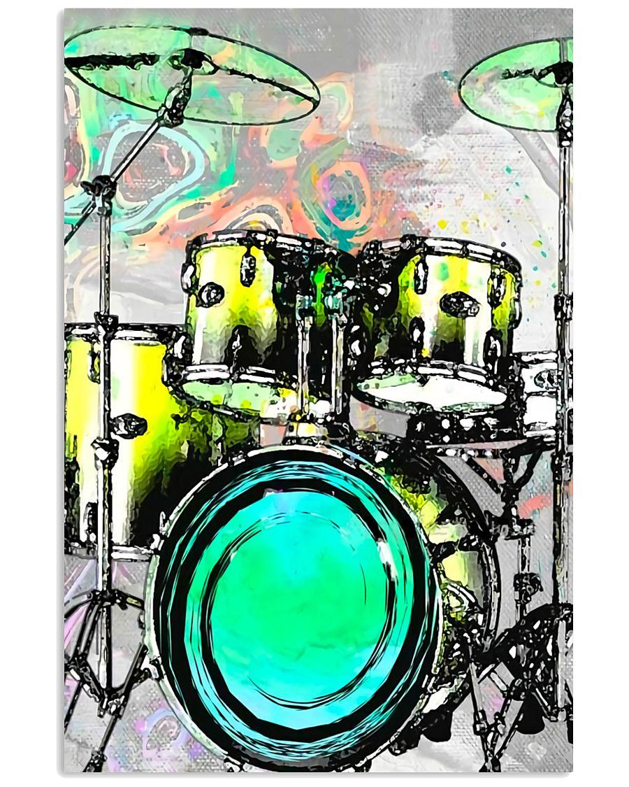 Drummer Green Drum Set 11x17 Poster