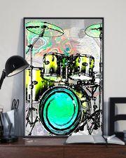 Drummer Green Drum Set 11x17 Poster lifestyle-poster-2