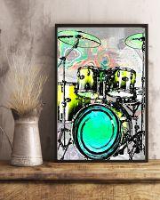 Drummer Green Drum Set 11x17 Poster lifestyle-poster-3